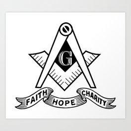 Freemasonry symbol Art Print