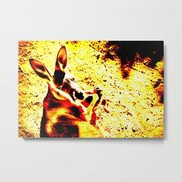 Abstract Kangaroo Metal Print