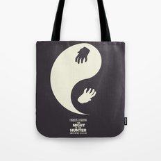 The Night of the Hunter - Minimal Poster (Robert Mitchum, Charles Laughton) classic Hollywood mo Tote Bag