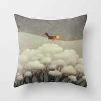 star Throw Pillows featuring Lost Star by Paolo Domeniconi
