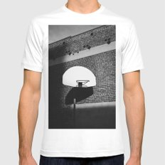 Los Angeles Basketball White MEDIUM Mens Fitted Tee