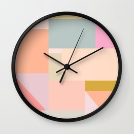 Pastel Geometric Graphic Design Wall Clock