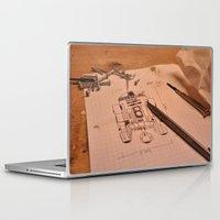 r2d2 Laptop & iPad Skins featuring R2D2 by radiantlee