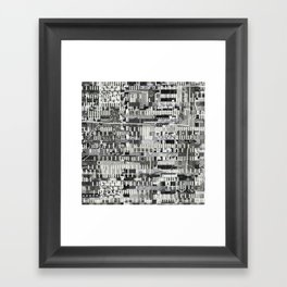 Exploiting Digital Behavior (P/D3 Glitch Collage Studies) Framed Art Print