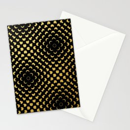Black and gold pattern Stationery Cards