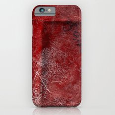 red watercolor iPhone 6s Slim Case