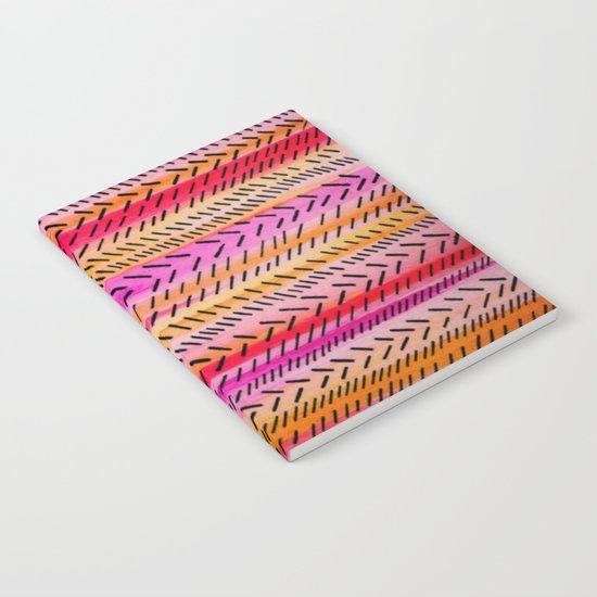 FUNKY RHYTHM 2 - Beautiful Fun Collaboration w Sreetama Ray, Pretty Feminine Pink Orange Pattern Notebook