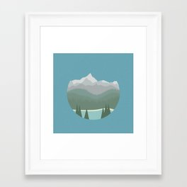 Inside Out Snow Globe Framed Art Print