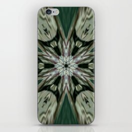 The Green Unsharp Mandala 7 iPhone Skin