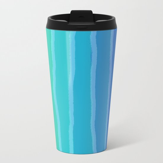Vertical Color Tones #2 - Rainbow Collection Metal Travel Mug