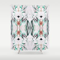 running Shower Curtains featuring Running Out by Truly Juel