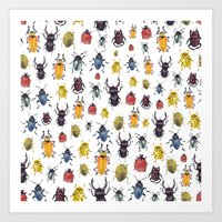 bugs Art Prints featuring Bugs by Marina Eiro