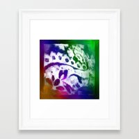 lace Framed Art Prints featuring Lace by Geni