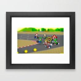 Mario Circuit Framed Art Print