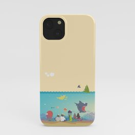 What's going on at the sea? Kids collection iPhone Case