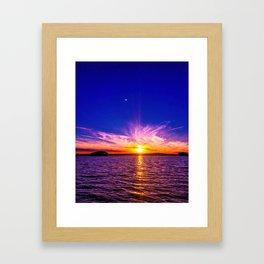 When the sun goes down Framed Art Print