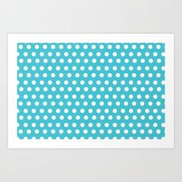 Happy Dot Aqua Art Print