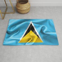Saint Lucia Flag Rug