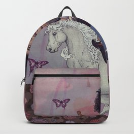 Woke up This Morning and Found Myself Riding a Unicorn Backpack