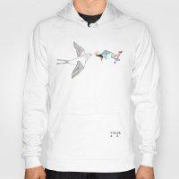 wesley bird Hoodies featuring bird by Belén Segarra