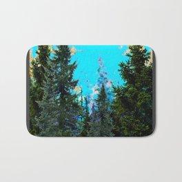WESTERN PINE TREES MOUNTAIN GREY LANDSCAPE Bath Mat