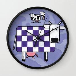 Purple Cow Wall Clock