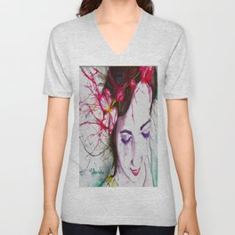 Apple Blossoms Unisex V-Neck