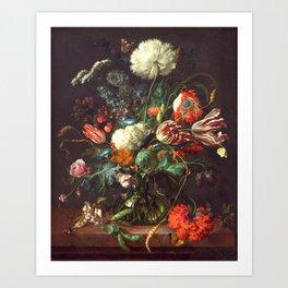 Vase of Flowers II - de Heem Art Print