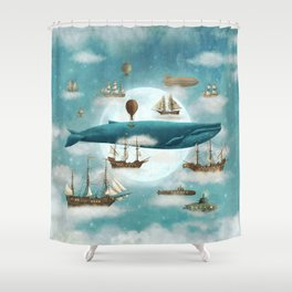 Ocean Meets Sky - revised Shower Curtain