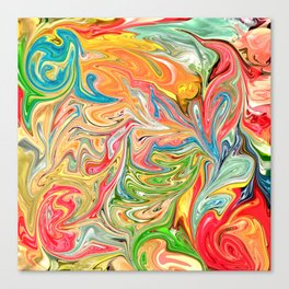 Melted Gummy Bears Canvas Print