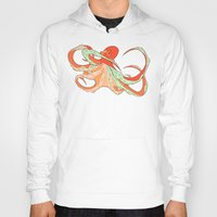 octopus Hoodies featuring Octopus by Jemma Salume