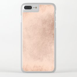 Brown grunge texture Clear iPhone Case