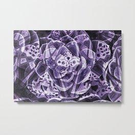 indian succulent Flower pattern Collage digital ART II Metal Print