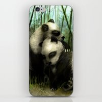 pandas iPhone & iPod Skins featuring Pandas by Gilthonniel's Shop