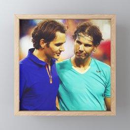 Federer & Nadal Tennis Framed Mini Art Print