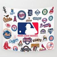 baseball Wall Tapestries featuring Baseball Teams by RickART