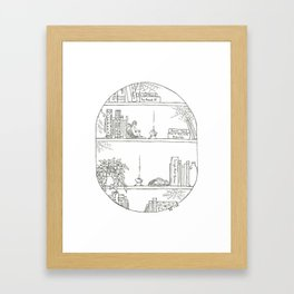 Angelic Bookends Framed Art Print