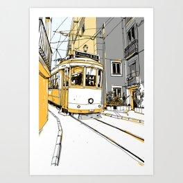 Lisboa Train Art Print