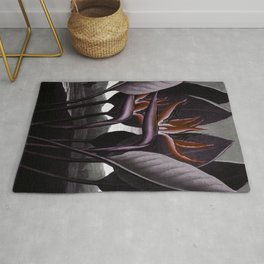 Birds of Paradise : Temple of Flora Dark Rug