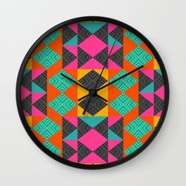 Bright multicolored shapes Wall Clock