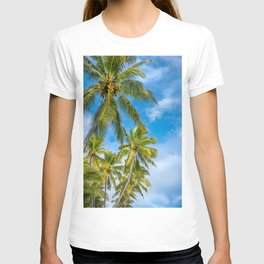 Coconut Palm Trees against the blue sky at Isle of Pines in New Caledonia. T-shirt