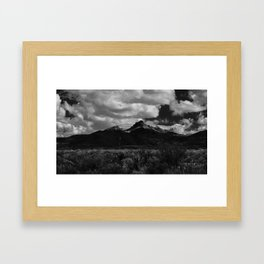 Dramatic Clouds over Mountain Range in Big Bend Framed Art Print