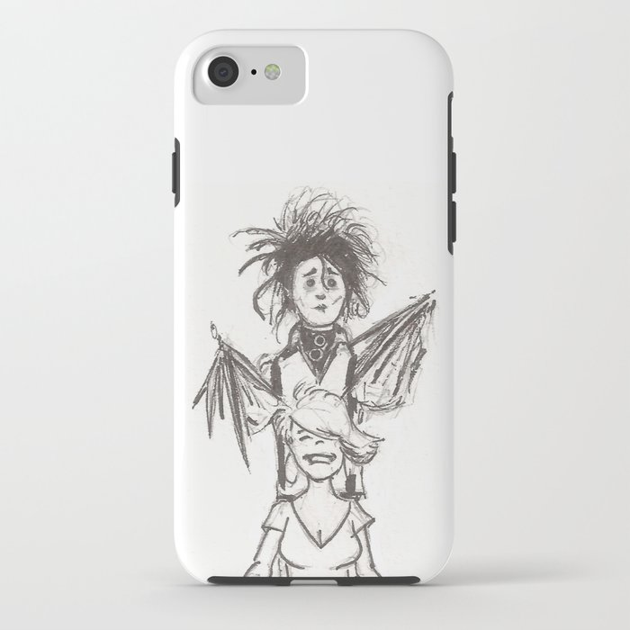 Edward Scissorhands Haircut Iphone Case By Drono Society6