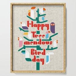 Happy Tree-mendous Bird-day Serving Tray