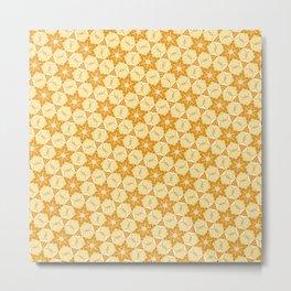 Yellow six-point star pattern Metal Print