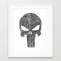 punisher Framed Art Prints featuring Punisher  by christoph_loves_drawing