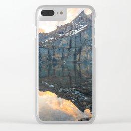 Glacier Mountain Landscape (Oeschinen Lake) Clear iPhone Case