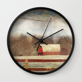 Misty Mountain Barn Wall Clock