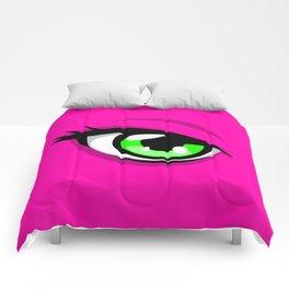 Confident Pink Heroine Comforters