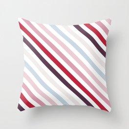 Diagonal Stripes Throw Pillow